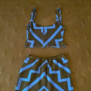 Skirt and blouse set
